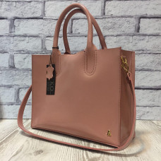 """""""SOLO"""" bag genuine leather, pink colour"""