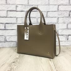 """""""SOLO"""" bag genuine leather, cappuccino colour"""