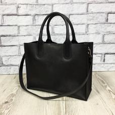 """""""SOLO"""" bag genuine leather, black colour (portofino)"""