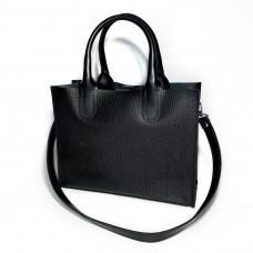 """SOLO"" bag genuine leather, black color"