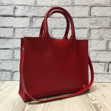 """""""SOLO"""" bag genuine leather, red colour"""