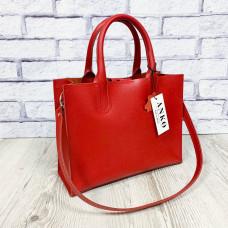 """""""SOLO"""" bag genuine leather, red colour (portofino)"""