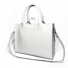 """""""SOLO"""" bag genuine leather, white color"""