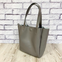 """Vivien"" bag genuine leather, grey colour"