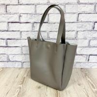 """""""Vivien"""" bag genuine leather, grey colour"""