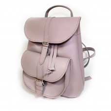 """VOYAGE"" backpack genuine leather, bright lavender color"