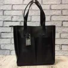 """Zetta"" bag genuine leather, black colour"