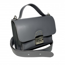 """Biyanka"" bag genuine leather, grey color"