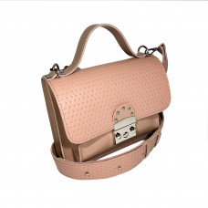 """Biyanka"" bag genuine leather, pink color"