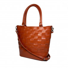 """Freska"" bag genuine leather, color of pottery clay"