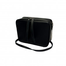 """Kvadro"" bag genuine leather, black color"