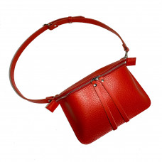 """""""Next"""" bag genuine leather, red color"""