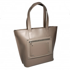 """Siyena"" bag genuine leather, latte color"