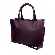 """""""SOLO"""" bag genuine leather,  aubergine colour"""