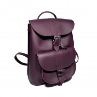 """Votage"" backpack genuine leather, aubergine color"